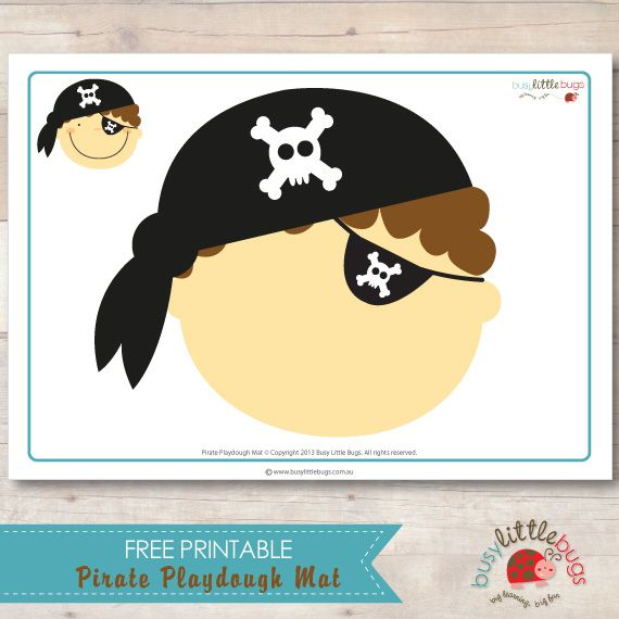 Pirate Playdough Mat (free; from Busy Little Bugs)