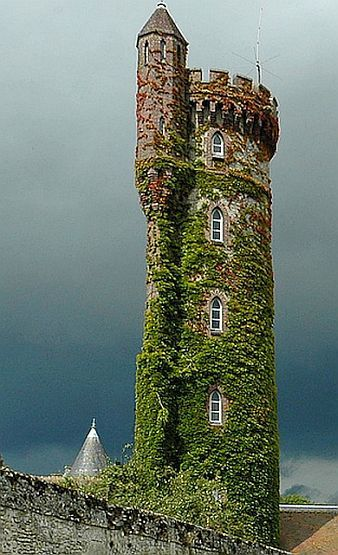 Tower behind Chateau de Raray, France