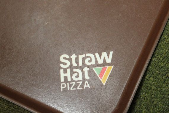 Straw Hat Pizza Vintage Tray -- I remember going to a birthday party there in the 80's.
