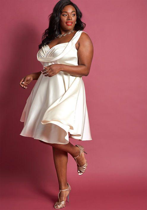 Cream Aline Dresses