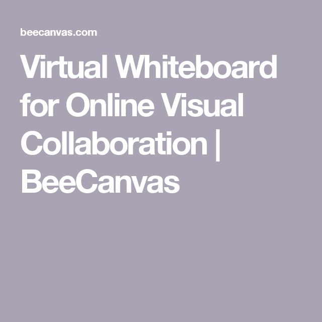 Virtual Whiteboard for Online Visual Collaboration   BeeCanvas
