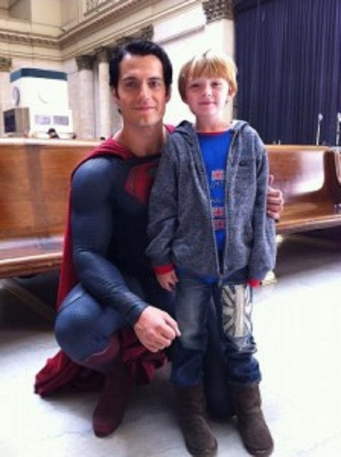 Henry-Cavill-Superman-Man-of-Steel-Pic-with-Little-Boy by The Henry Cavill Verse, via Flickr