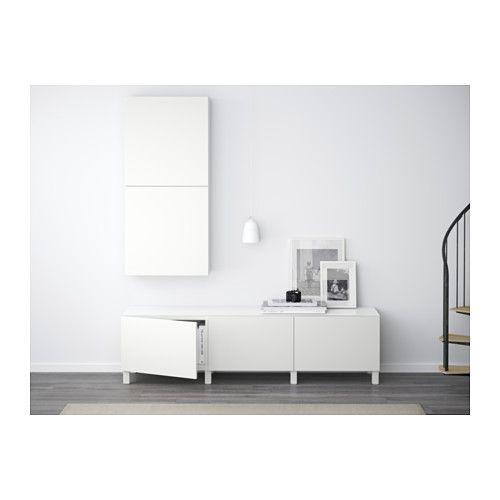 BESTÅ Storage combination with drawers, Lappviken white Lappviken white drawer runner, push-open 70 7/8x15 3/4x18 7/8