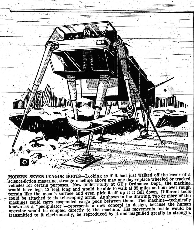 50 years ago today(August 8th, 1962) the Dunkirk Observer published this concept of a moon vehicle. I wonder what GE's designers would have thought of the Curiosity Mars Rover.