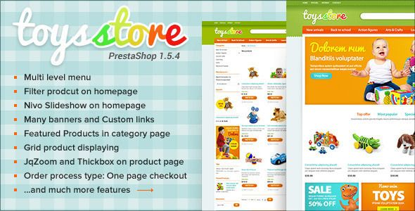 ET Toys Store PrestaShop Template Theme #eCommerce Download here: http://themeforest.net/item/et-toys-store-prestashop-template/4431484?s_rank=420&ref=yinkira