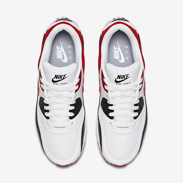 100% authentic e69ca 7aae7 ... france chaussure nike air max 90 pas cher homme essential blanc noir  gris loup rouge universite