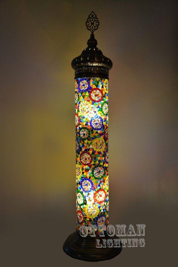 turkish lamp bohemain lamp lighting morrocan decor ottoman lamp Handmade turkish standing floor lamp mosaic lamp floor light lighting