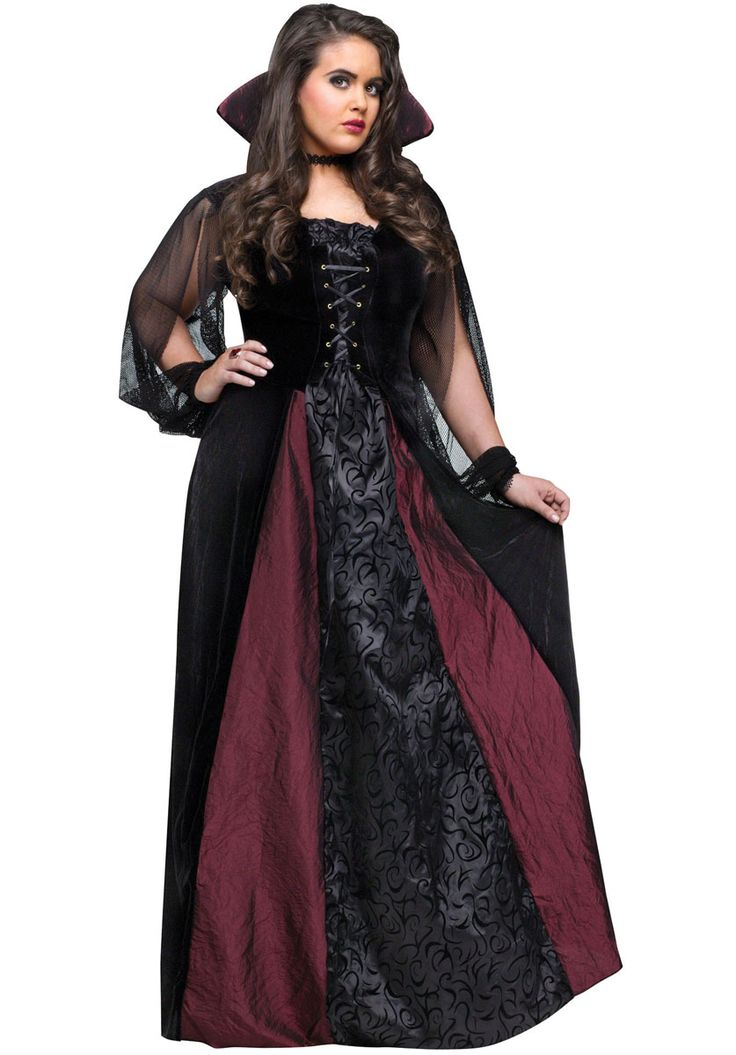 Vampiress Goth Maiden Costume, Plus Size - Halloween Costumes at Escapade