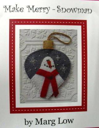"""Make Merry Snowman"", another lovely design by Marg Low."
