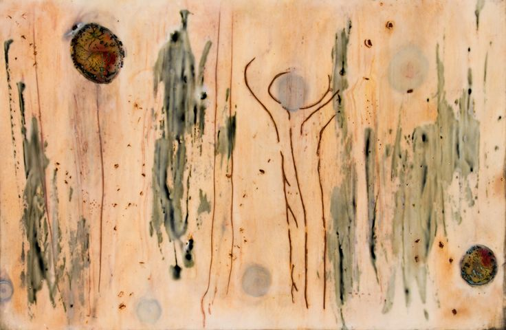 'Garden Room 2' 40x26cm encaustic art by Mirella Vassallo