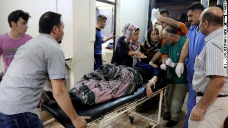 Suicide bomber kills 22 in northeast Syria : A suicide bombing in Syria kills 22 people and leaves dozens wounded at a Kurdish wedding party, and ISIS claims responsiblity.