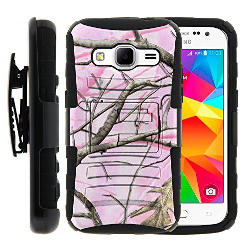 Buy Samsung Galaxy Core Prime Case, Samsung Galaxy Core Prime Holster, Two Layer Hybrid Armor Hard Cover with Built in Kickstand and Unique Graphic Images for Samsung Galaxy Core Prime G360 (Boost Mobile) from MINITURTLE | Includes Screen Protector - Pink Hun for 13.99 USD | Reusell