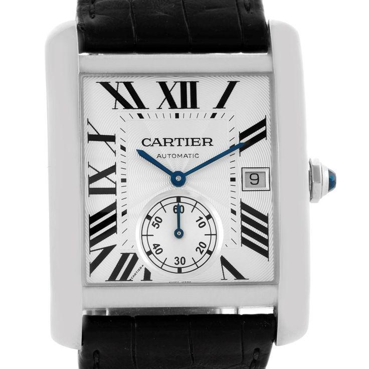 Cartier Tank MC Automatic Silver Dial Mens Watch W5330003