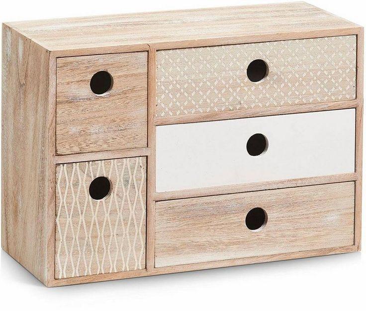 Home affaire Schubladenelement »Nordic« für 44,99€. Praktisches Schubladenelement, Mit 5 Schubladen, überzeugt durch modernes, nordisches Design bei OTTO