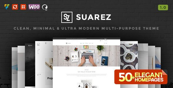 Themeforest WordPress – Suarez – Clean, Minimal