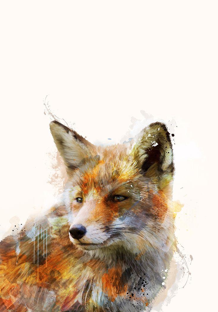 Abstrakter Fuchs – myposter Motivwelt #design #fuchs #herbst #trend #art #artsy #trendy #fox #whatdoesthefoxsay #kunst #einrichten #wohnen