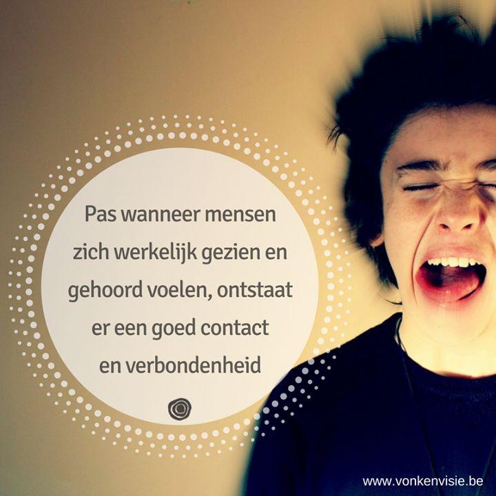 'ERKENNEND LUISTEREN' Tweedaagse nascholing met Maarten Van de Broek 9 en 10 februari - Vonk en Visie Vormingscentrum Balen  De meeste mensen weten wat 'actief luisteren' is.  Erkennend luisteren gaat verder.  Om erkennend te luisteren is ten eerste het besef nodig dat ieder zijn eigen unieke blik op de werkelijkheid heeft.  Het vraagt om onze blik op de werkelijkheid even los te laten ons oordeel even uit te stellen om te durven doorvragen om de werkelijkheid van de ander te durven…