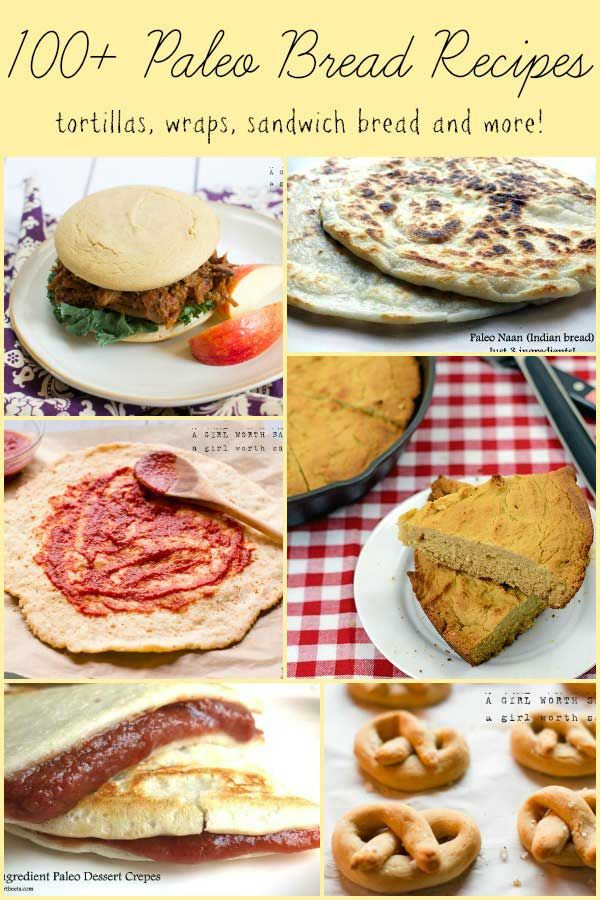 100 Paleo Bread Recipes! these look great i looked at a few and the links work :) the crepes look fantastic
