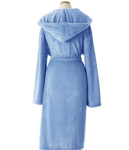 Pine Cone Hill Selke Fleece French Blue Hooded Robe #giftsshewilllove #giftsshewilllovebathandbody #giftsshewillloveuniquegifts #giftsshewilllovejewerlry #lavenderfields