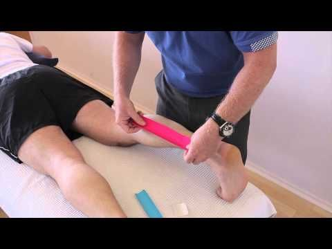 How to treat a Calf strain (Gastrocnemius/Soleus) using Kinesiology Tape - YouTube