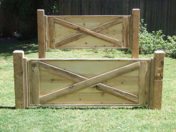 Barn Door Bed - Made with Reclaimed Wood