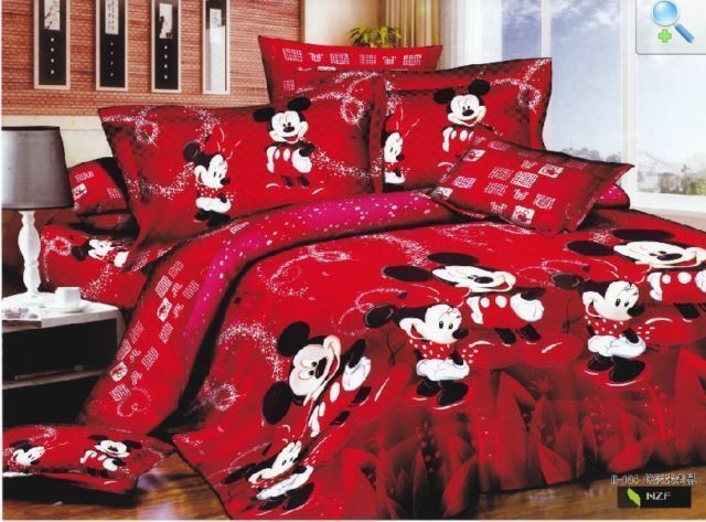 Christmas mickey mouse Cotton king queen Size Duvet / quilt Cover bedding Sets