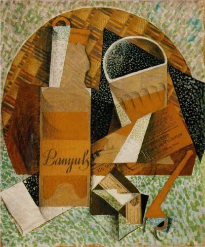 The Bottle of Banyuls - Juan Gris