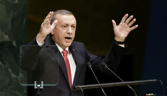POLL: TURKISH PEOPLE DISLIKE ISRAEL SLIGHTLY MORE THAN ISIS, HEZBOLLAH, HAMAS - 86% of turks have negative view of Israel, according to Pew Research Center poll - Turkish President Recep Tayyip Erdogan speaks during the 69th session of the UNGA
