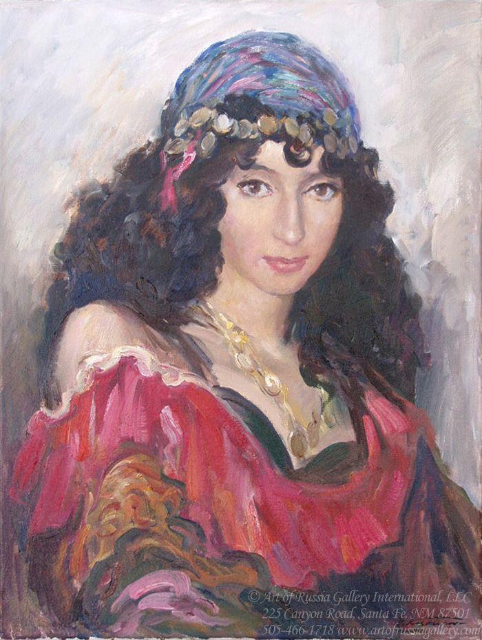 impressionism gypsy paintings Valery Kosorukov Gypsy