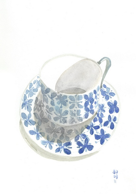Blue cup by Charles CH, via Flickr: Illustration, Photo
