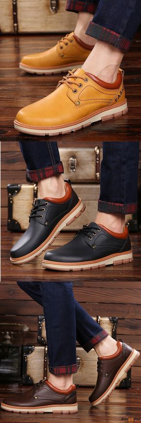 US$38.99 + Free shipping. Men Shoes, Men Casual Shoes, Oxfords Shoes, Leather Shoes, Warm Shoes. Color: Black, Brown, Yellow.Upper Material: Top Split Leather. Stylish Design & Top Materials with Reasonable Price.