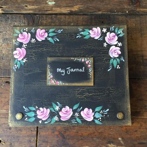 Tutorial: Using 'Weathered wood' crackle medium | Folk It!. Carol shows you how to create this hand painted journal using new mediums and metallic lustre. All supplies available from www.folkit.co