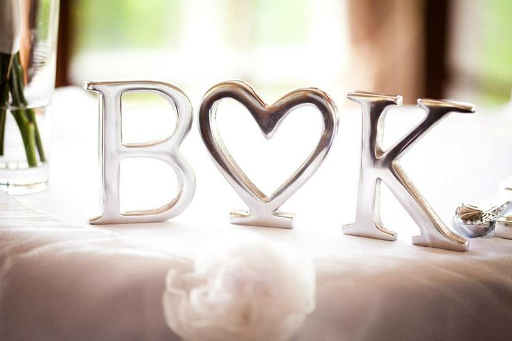Using letters on your cake table or bridal table is a simple way to add your own personal touch