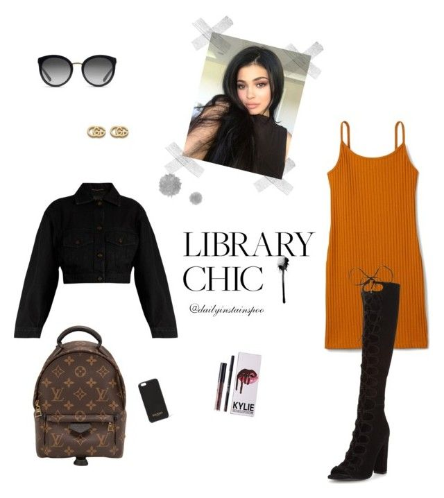 """Untitled #26"" by nikolalazanska on Polyvore featuring Kendall + Kylie, Louis Vuitton, Yves Saint Laurent, Gucci, Dolce&Gabbana and Balmain"