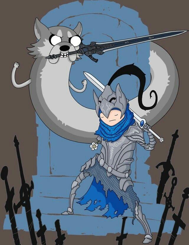 Men's Dark Souls Cartoon Adventure time Short Sleeve Tee ... |Dank Souls Adventure Time