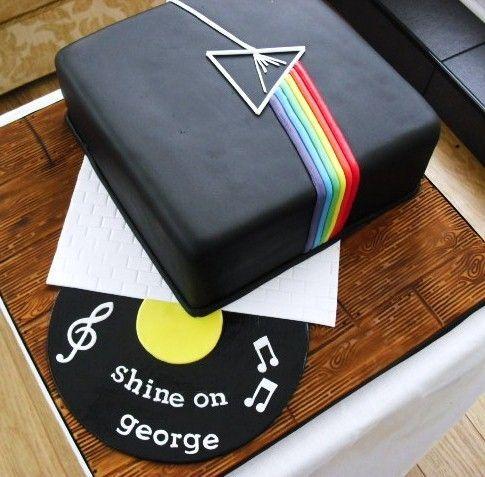 Pastel con diseño de Pink Floyd
