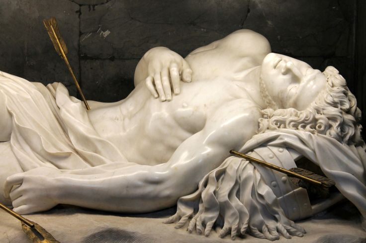 """ Bernini's Saint Sebastian which is placed at the site of the saint's burial along the Appian Way. """