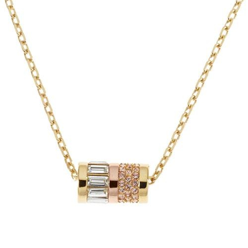 michael tradesy i rose necklace quartz pendant kors gold