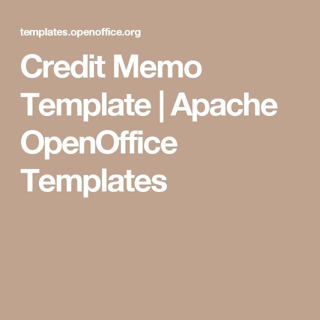 Credit Memo Template | Apache OpenOffice Templates