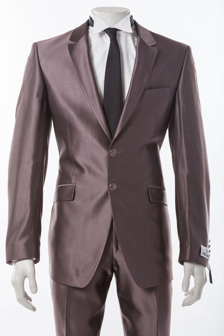 hochzeitsanzug braun grau festlicher hochzeitsanzug von wilvorst klassisches 2 knopf sakko in. Black Bedroom Furniture Sets. Home Design Ideas