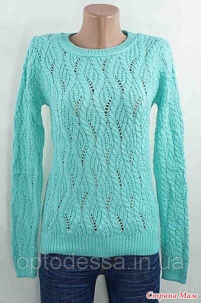 Интернет- сила))) Наткнулась на этот замечательный пуловер, очень хочу его связать.