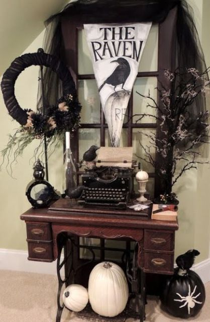 854 best this is halloween decor images on Pinterest Halloween - vintage halloween decorating ideas