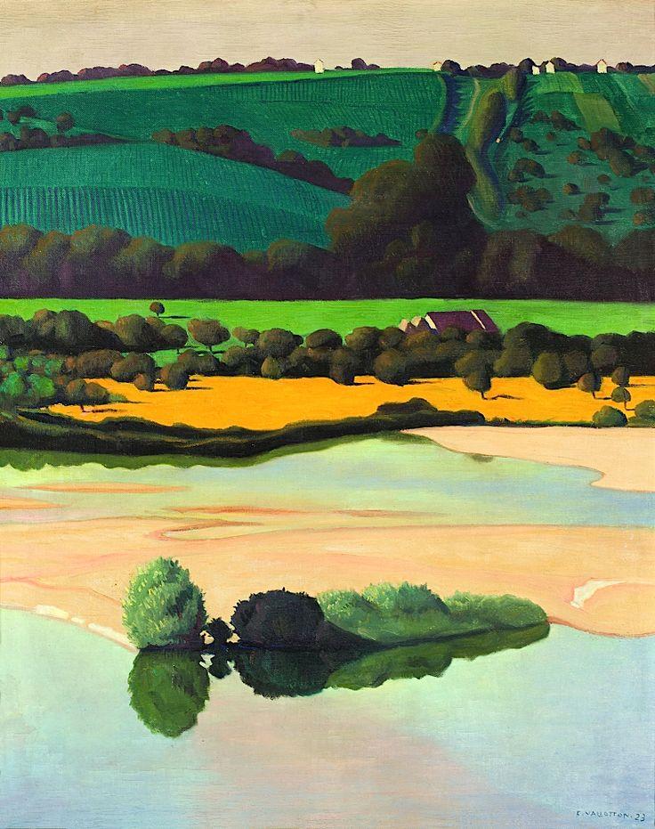 Félix Vallotton (Suisse, 1865 -1925), Un soir sur la Loire), 1923