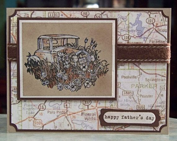 Vintage Car Day Card, Stampin Up Thoughts of Father