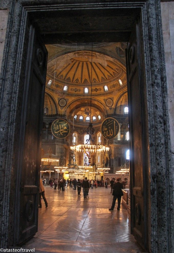 Aya Sofia, Istanbul. An excellent set of photos from http://atasteoftravelblog.com/2013/istanbul-aya-sofia-museum/
