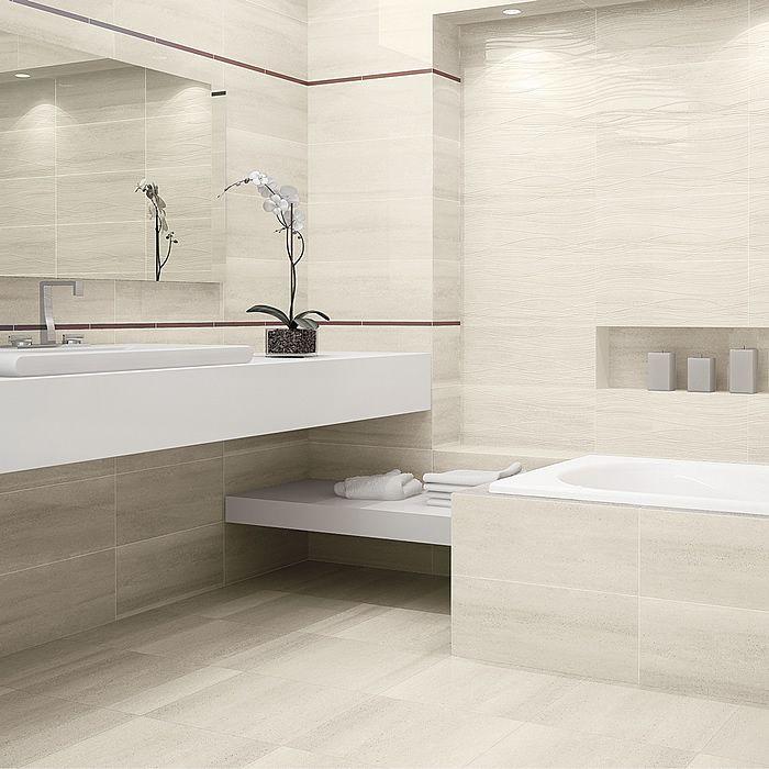 soft white stone bathroom tiles - Yorkshire Tile Company