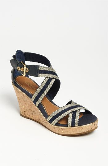 Sperry Sandals- want!: Sneakers, Sider Sandals, Sperry Sandals, Summer Espadrille, Heels Boots Sandals, Navy Wedges, Navy Shoes
