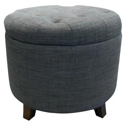 Threshold™ Tufted Round Storage Ottoman