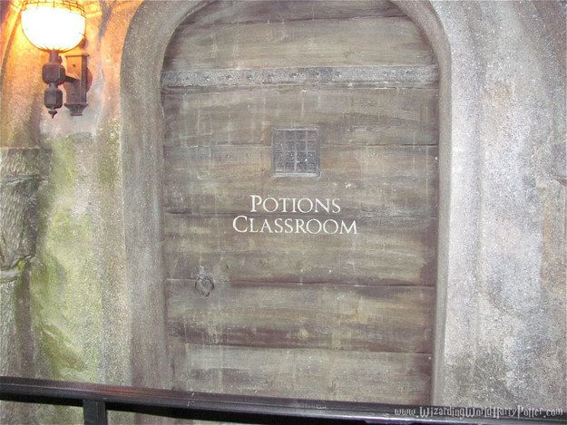When in line for the Forbidden Journey ride, you can hear a teacher lecturing behind the Potions classroom door. | 29 Tips To Make Your Day Magical At The Wizarding World Of Harry Potter