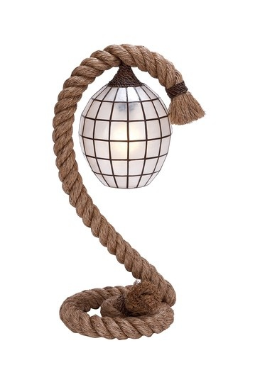 Rope Table Lamp - This would be great for a lake house or cottage